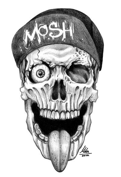 tattoo design skull png skull mosh by such a mika on deviantart