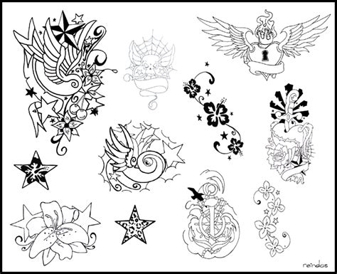 tattoo flash layout tattoo flash by reindas on deviantart