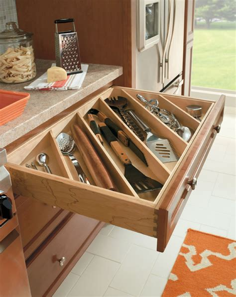 kitchen cabinet drawer organizers homecrest cutlery utensil divider traditional kitchen