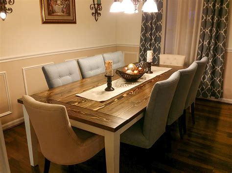 solid wood farmhouse table solid wood farmhouse table with breadboards and tapered