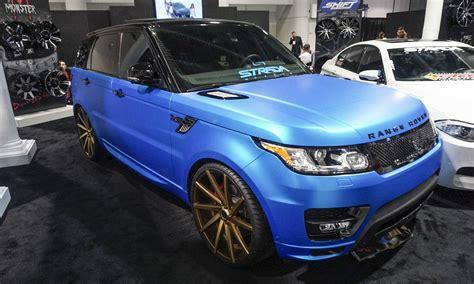 matte blue range rover 2015 sema wildest rides 187 autonxt