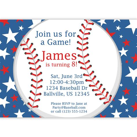 baseball themed invitation template baseball invitation white and blue baseball