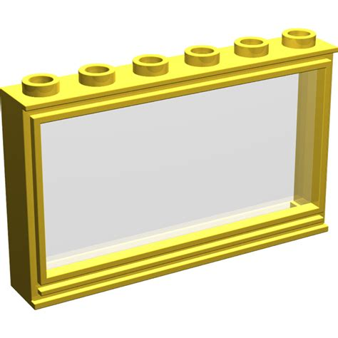 Lego Part Yellow Window 1 X 2 X 3 Pane With Thick Corner Tabs lego yellow window 1 x 6 x 3 with pane 604 brick owl lego marketplace