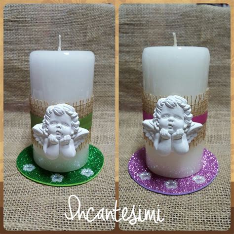 candele decorate candele decorate con angeli idea bomboniera comunione
