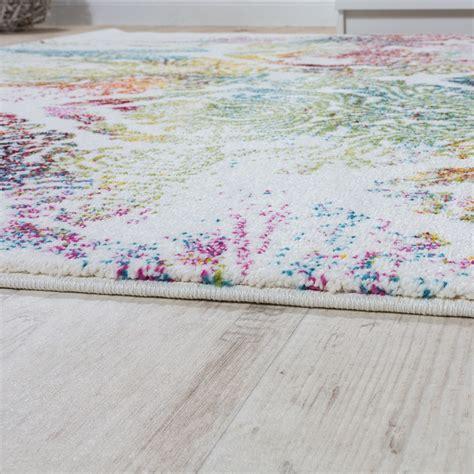 teppiche bunt modern teppich canvas kinder teppiche