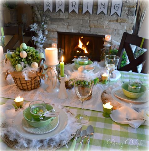 spring tablescape dining delight spring green easter tablescape