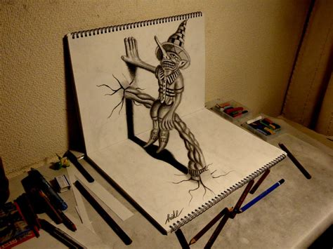 3d sketch drawing 3d drawing residents on the sketchbook by nagaihideyuki