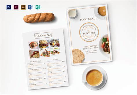 Breakfast Party Menu Design Template In Psd Illustrator Indesign Word Publisher Breakfast Menu Template Word