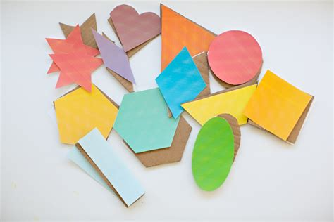 How To Make Geometric Shapes With Paper - geometric cardboard shape sculptures with free printable