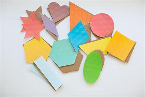 Geometric Shapes With Paper - hello wonderful geometric cardboard shape sculptures