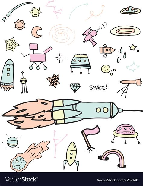 doodles in outer space 1539195775 outer space doodles vector by pepperstudio image 4239140 vectorstock