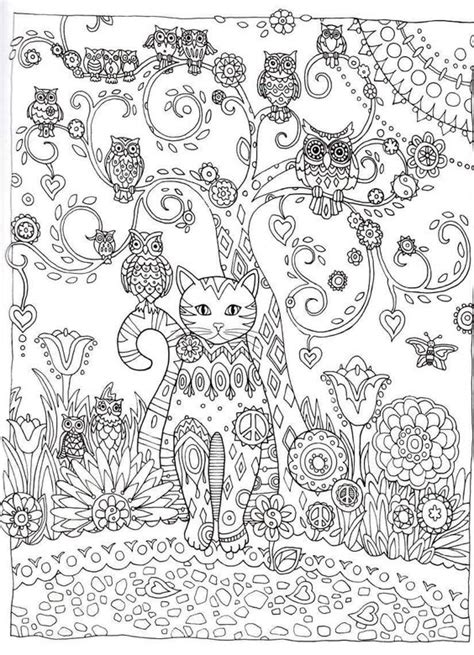abstract cat coloring pages cat outline coloring and creative on pinterest