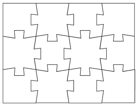 printable puzzle template 8 5 x 11 make your own jigsaw puzzle math printables pinterest