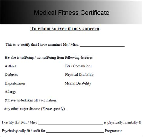 Best Resume Format For Job by Medical Certificate Template Free Word Pdf Documents