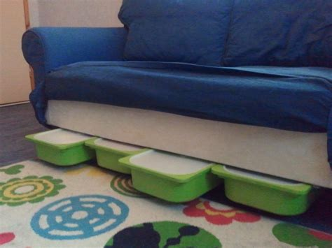 ikea hack couch ektorp storage using trofast ikea hackers ikea hackers