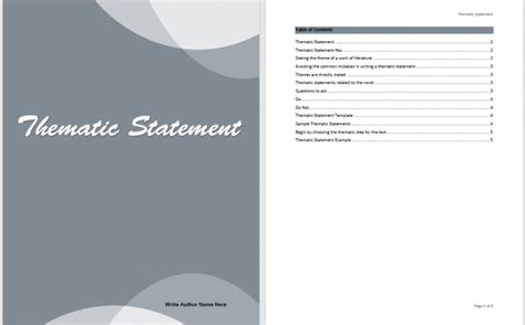 Planning Statement Template by Planning Thematic Statement Ms Office Documents