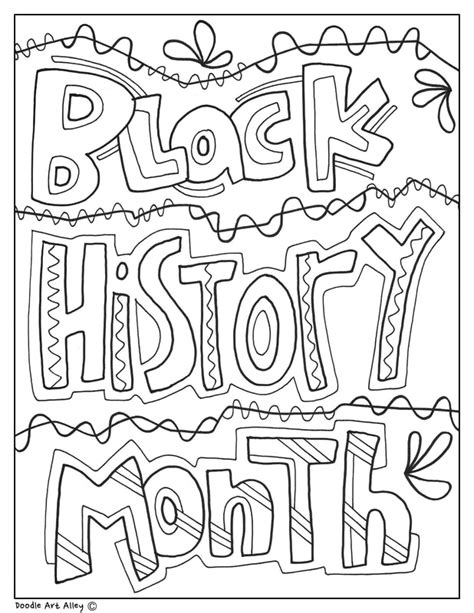 black history month coloring pages black history month printables classroom doodles