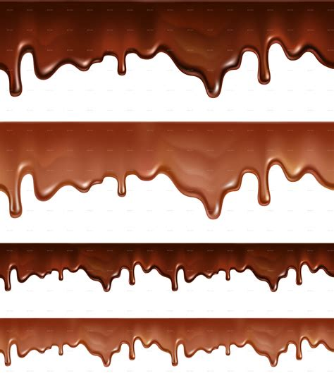 Melted Chocolate Dripping on White Background by Mia_V ... Dripping Chocolate Background
