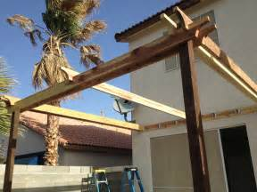Ana white pergola attached directly to the house diy