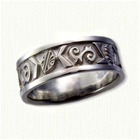 Custom Designed African Wedding Rings and Wedding Bands by