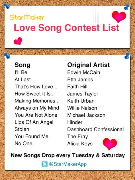 love songs list starmaker studios updates from the team behind the
