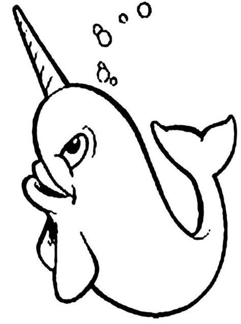 Coloring Page Narwhal by Happy Narwhal Coloring Page Netart