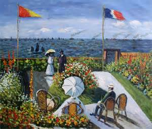 painted painting repro claude monet garden at