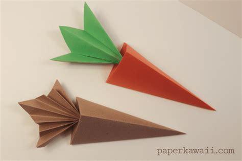 Origami Vedio - origami carrot box tutorial paper kawaii