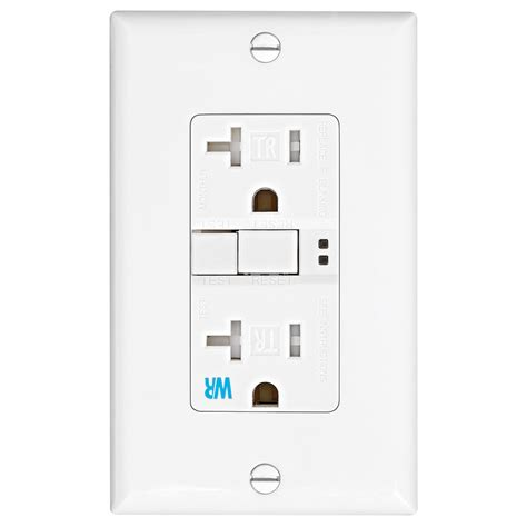 outdoor wall l with outlet shop eaton 20 amp 125 volt white outdoor gfci decorator
