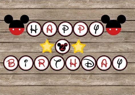 printable mickey birthday banner birthday banner template 23 free psd eps in design
