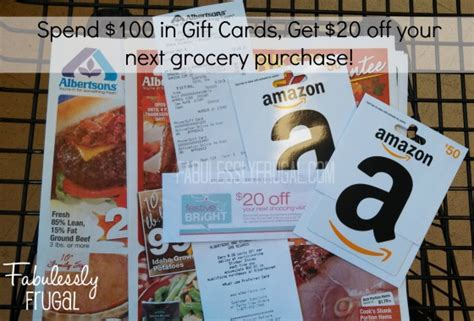 Albertsons Gift Card Deal - albertsons gift card deal fabulessly frugal