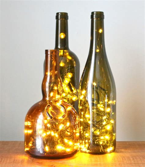 Lights In A Bottle 20 Wine Bottle Christmas Crafts To Go For A Festive Decor
