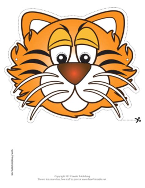 printable tiger mask template from the heart up free printable masks for kids