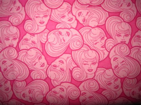 barbie printable fabric refill 1 yard barbie cotton fabric pink faces bty by ocifabrics