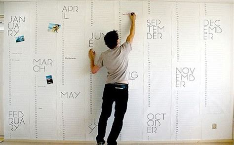 large design calendar yearly planner wall typo calendar pinterest for kids