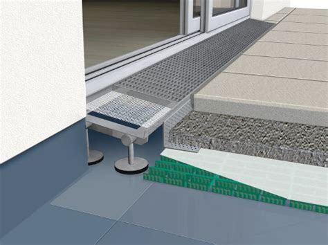 pvc boden falsch verlegt barrierefreie balkongestaltung schwellenloser umbau