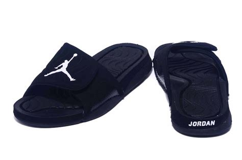 retro slippers 2018 air hydro 4 all black slippers for sale