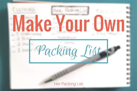 Create Your Own Custom Diy - travel diy create your own packing lists packing list