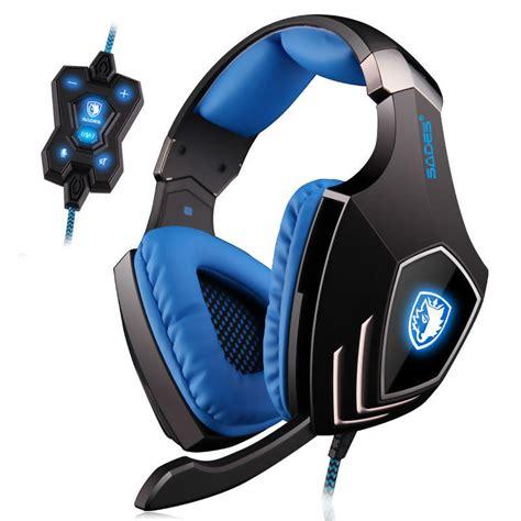Headset Sades A60 Sades A60 7 1 Surround Sound Pro Gaming Headset Gamer Vibration Function Bass Headphones
