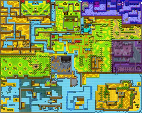 legend of zelda rom map 2d zelda overworld age koholint island most awesomeness
