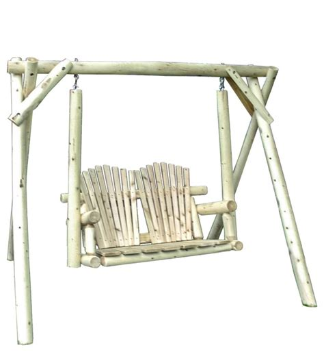cedar log swings white cedar log outdoor 5 adirondack swing with a frame