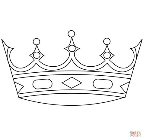 crown color crown free colouring pages