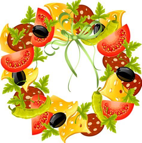 Autumn Wreaths by Fruit Vegetable Clip Art Free Clipart Vegetables Feebase