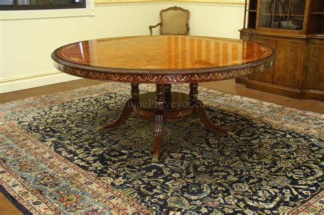 72 inch round dining room table luxurious 72 inch round walnut and pearl inlaid dining table