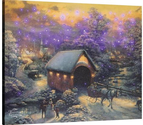 home interiors kinkade prints kinkade winter evening memories fiber optic picture