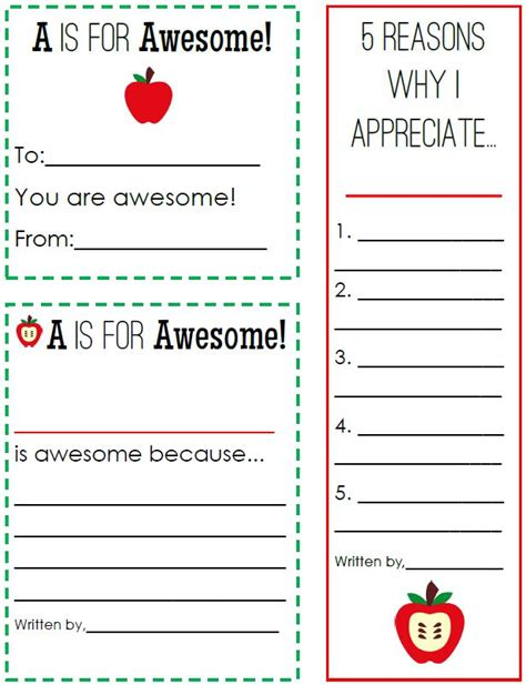 appreciate and teachers classroom freebies