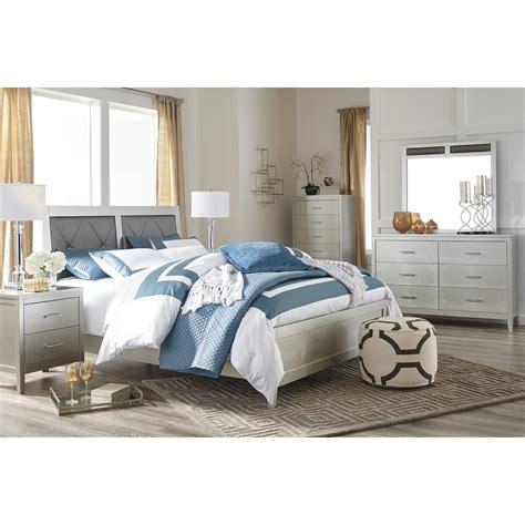 signature design by ashley bedroom sets signature design by ashley olivet glam queen bedroom group