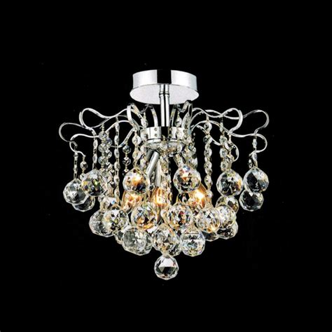 Chandeliers Flush Mount Brizzo Lighting Stores 14 Quot Formosa Semi Flush Mount Chandelier Chrome Gold 3 Lights