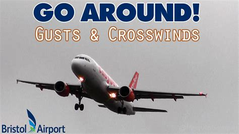 aborted bristol easyjet a320 go around aborted landing in 45 knot gusts