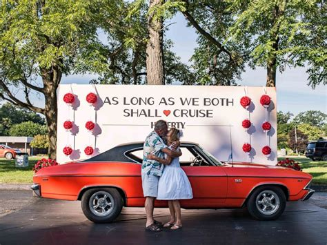 Wedding Car Vows by Couples Renew Wedding Vows In Classic Cars As As We